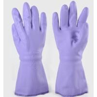 东亚808-2橡胶手套 pvc家用手套 耐油耐酸碱耐磨 内衬保暖绒防寒