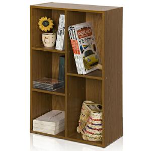[当当自营]慧乐家 鲁比克五格柜11051 深红樱桃木色 书架书柜 收纳储物柜子 优品优质