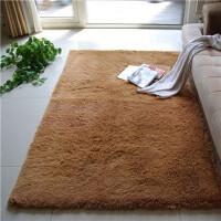 真爱美家 80*120CM 超顺滑加厚丝毛 客厅地毯 茶几地毯 卧室地毯 香槟色