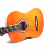 支持货到付款 Rockman 古典吉他  木吉他 古典 六弦琴 经典原木色 吉他 经典中的经典 西班牙吉他 尼龙弦 不伤手哦 (送吉他拨片  吉他调节扳手一个  《即兴之路》初学中级教程 一本+CD) 入门级用琴