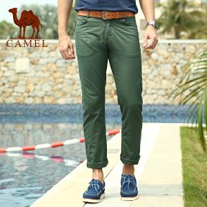 CAMEL 骆驼男装 夏装新款修身版休闲裤 男士纯棉休闲长裤