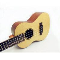 货到付款 Vorson  ukulele 23寸 C型 尤克里里 乌克丽丽  云杉面板 音色好 木质优   23寸夏威夷小四弦琴 送(尤克里里琴套+3个拨片+ 教程一本)RU-24-W