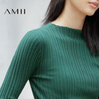 【AMII超级大牌日】[极简主义]2016秋冬新款修身显瘦纯色半高领毛衣女11632399