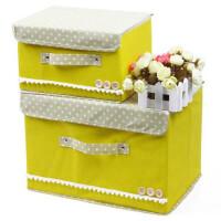 卡秀 大号韩版木扣收纳储物箱乐扣箱收纳箱收纳盒黄色