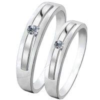 梦克拉  钻石对戒  PT950戒指 清雅 铂金对戒  情侣对戒男戒女戒 钻石戒指 创意礼品