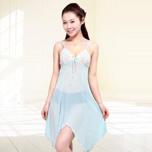 【品牌自营】金丰田夏季女士性感吊带网纱蕾丝睡裙1129