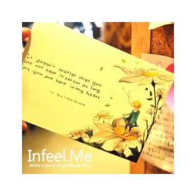 日韩 那不只是童话 手绘插画风小王子系列明信片 8张入喜迎开学 全场