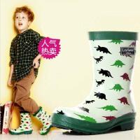 儿童雨鞋男孩雨鞋男童雨靴高档优质帅气恐龙卡通雨鞋