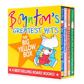 英文原版绘本 Sandra Boynton's Greatest Hits 奶牛纸板书4册合