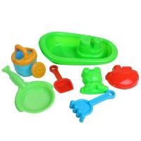 儿童沙滩玩具船7件套装 宝宝戏水玩沙玩具 益智亲子游戏