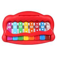 美贝乐 婴幼儿玩具琴宝宝早教益智玩具八音手敲琴乐器儿童钢琴4009颜色*发货