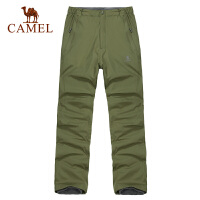 CAMEL骆驼户外秋冬新款男款户外双层透气休闲冲锋裤