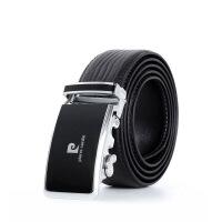 皮尔卡丹Pierrecardin新款经典款式男士牛皮自动扣皮带P00128黑色