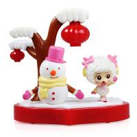 奥迪双钻(AULDEY) 喜洋洋与灰太狼 儿童玩具套装 美羊羊旋转舞台591103