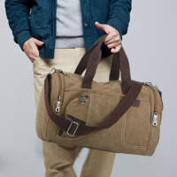 旅行包出差包单肩包手提包斜挎大包纯棉帆布包时尚休闲包