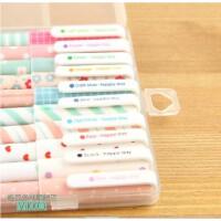 京潮港 糖果色中性笔10支包装/韩国风格 勾线笔 水性笔 画图 笔记  10款