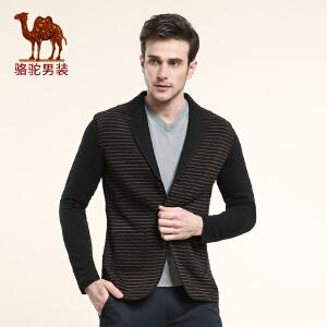 骆驼男装 秋季 男士休闲时尚西服单西 男士外套长袖西装