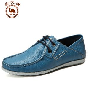 骆驼牌春季新款日常休闲男鞋子系带流行头层牛皮鞋耐磨低帮鞋
