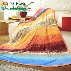 [当当自营]富安娜双层云毯保暖多功能毯子 爱琴海 橙色 200*230/3200g