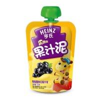 【当当自营】亨氏 Heinz果汁泥乐维滋-苹果黑加仑(1-3岁)120g/袋 宝宝辅食