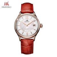 上海牌手表防水 女士全自动机械表 潮流时尚真皮皮带女表腕表539