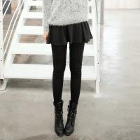 2016冬新款精梳棉包臀加绒加厚假两件裙裤打底裤