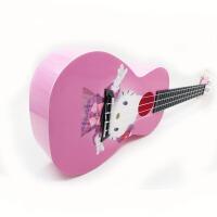 支持货到付款 Vorson 彩印 ukulele 23寸 尤克里里 标准弦长 乌克丽丽 小四弦 专业音准 夏威夷风情系列 标准弦长 送(琴套+3个匹克+教程一本)粉色  小猫  可爱 卡通 AUP-24-42