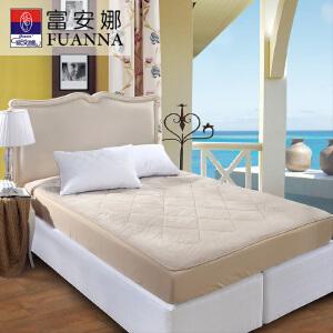 [当当自营]富安娜床垫床笠款羊毛保暖保护垫 水晶绒羊毛二合一保护床垫 浅咖 150*200