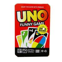 uno牌 uno豪华铁盒UNO水晶版尤诺由诺优诺乌诺德诺牌