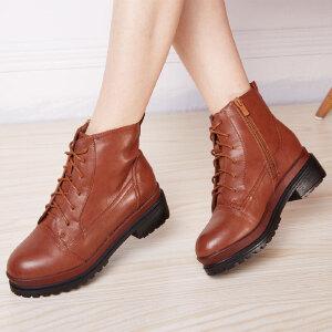东帝名坊新款细带简约时尚女靴