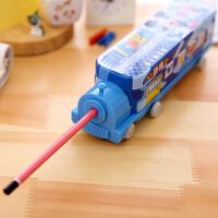 开学必备文具 创意文具文具盒汽车多功能三层铅笔盒小学生儿童礼品铁质韩国创意可爱笔袋
