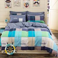 晶丽莱家纺 全棉四件套 斜纹床上用品 床单被套纯棉4件套