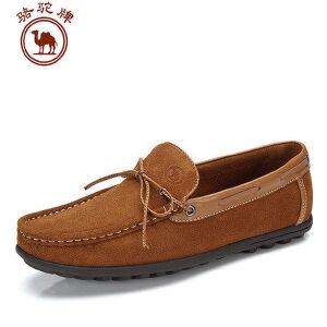 骆驼牌 春季新款男士休闲鞋豆豆鞋流行男鞋子英伦潮流男鞋子