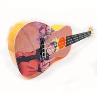 支持货到付款 Vorson 彩印 23寸 ukulele C型 尤克里里 标准弦长 乌克丽丽 ukulele 小四弦专业音准 夏威夷小吉他  橘黄色  动漫人物 动漫系列 送(琴套+3个拨片+教程一本)AUP-24-50