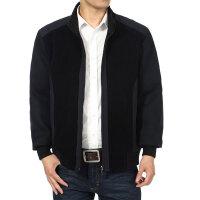 2016秋季新款男装中年男式外套 质感休闲百搭成熟男士夹克