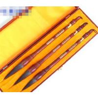 好吉森鹤/北京线上50元包邮//毛笔套装/木笔盒/3支兼毫毛笔/12*37CM/包装尺寸/精品书画毛笔-----------------3支毛笔狼兼毫大中小号毛笔+搭送品