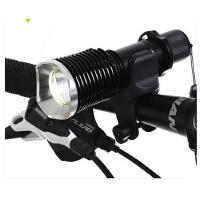 山地车前灯骑行自行车手电筒强光变焦充电T6自行车灯