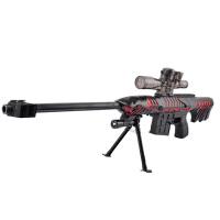 宜佳达 玩具枪 可发射水晶弹子弹连发软弹 电动狙击枪玩具 毁灭311