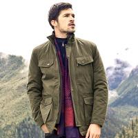骆驼男装新款男士棉衣冬季加厚立领棉服休闲外套直筒