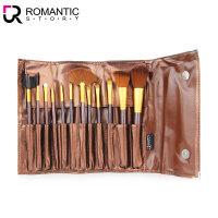 罗曼史(Romantic Story) 化妆刷12件套(眼影棒 眉刷 睫毛刷 散粉刷 唇线刷 两用眉梳)