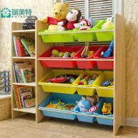瑞美特实木儿童玩具收纳架储物柜玩具收纳柜幼儿园玩具置物架超大