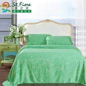 [当当自营]富安娜竹纤维凉席三件套  碧波琉璃 绿色 1.8米