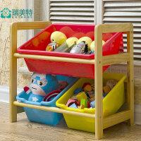 瑞美特实木玩具收纳架置物架儿童玩具架收纳架玩具收纳盒塑料环保
