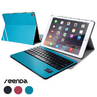 SeenDa苹果iPad Pro iPad Air2 无线蓝牙键盘皮套 可拆卸键盘+皮套两用 电压版/线条款 iPad Pro保护套 iPad Air保护壳
