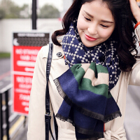 2016秋冬新品 亲肤舒适 欧美风秋冬季围巾披肩双面两用围脖格子围巾