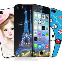 潮牌苹果iPhone5 5S 卡通闪钻个性贴膜 前机身膜+背膜 iPhone5手机壳 苹果5手机壳 苹果手机套 配件