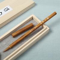 好吉森鹤/北京线上50元包邮/老人头 尼龙毛平头 水彩笔 水粉笔毛笔绘画笔彩粉画图用毛笔 610单号--------6支套装+有搭送品