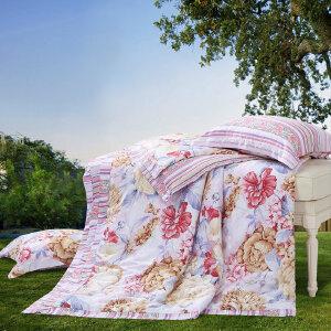 [当当自营]富安娜夏被空调被1.2米1.5米床 粉黛嫣然 粉色 1.2米
