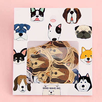 umi日本韩国款卡通贴纸手机装饰贴 diy手帐贴纸日记贴纸套装70枚_狗