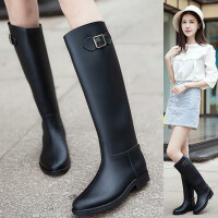 女士雨靴长筒雨靴时尚范雨靴VC高筒马靴水鞋女士长筒套鞋